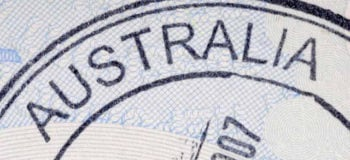 Tampon du visa tourisme en Australie