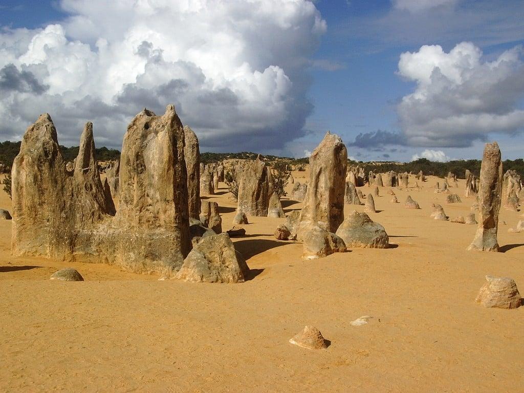 Désert des Pinnacles dans le Parc national de Nambourg
