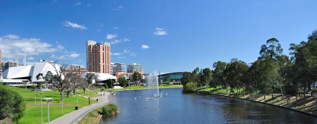 Paysage de la ville Adélaîde en Australie