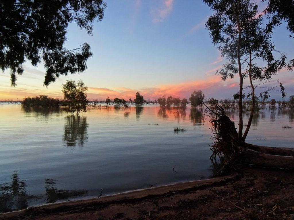 Lake Pamamaroo à l'Ouest de la Nouvelle-Galles du Sud