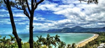 Paysage de plage à Cairns en Australie