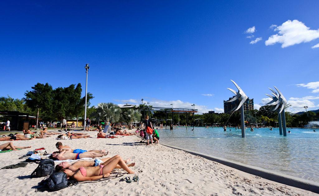 Lagune du centre-ville de Cairns en Australie